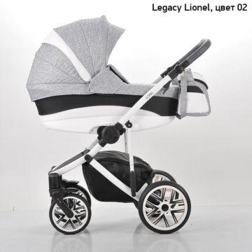 Коляска 2 в 1 Legacy Lionel (светло-серый+белая вставка)