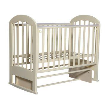Кроватка детская Кедр Любаша 2-2 (поперечный маятник) (слоновая кость)