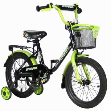 """Детский велосипед Velolider Stark 16"""" Черный/Зеленый"""