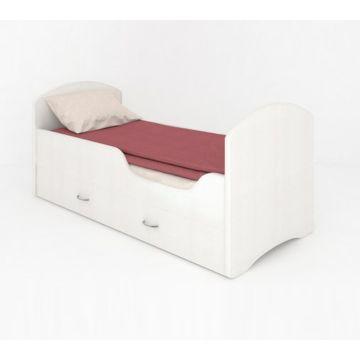 Кровать с ящиками Мебель Мечты Classic (белая)