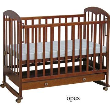 Кроватка детская Фея 325 (качалка-колесо) (Орех)