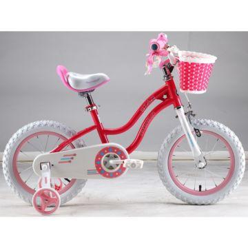 """Детский велосипед Royal Baby Stargirl Steel 14"""" (малиновый)"""