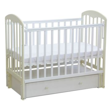 Кроватка детская Фея 328 светлая (универсальный маятник) (Белый-ваниль)
