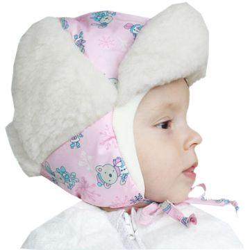 Шапка детская Little People Снежок (розовый)