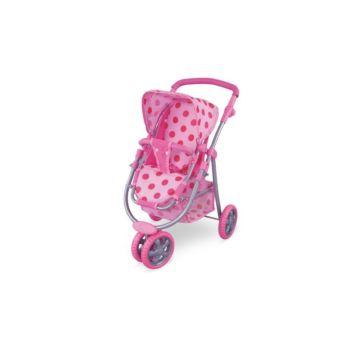 Коляска для куклы Fei Li Toys трость (розовая) FL8180-1
