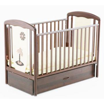 Кроватка детская Papaloni Vitalia (продольный маятник) (Шоколад/слоновая кость)