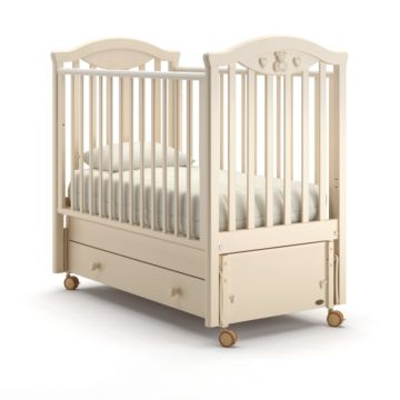 Кроватка детская Nuovita Lusso Swing (продольный маятник) (слоновая кость)