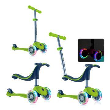 Самокат Globber Evo 4 in 1 со светящимися колесами (green)