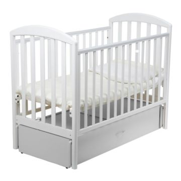 Кроватка детская Papaloni Джованни (продольный маятник) (Белый)