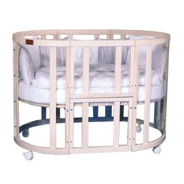 Кроватка-трансформер Incanto Estel 10 в 1 (беленый дуб с серой платиной)