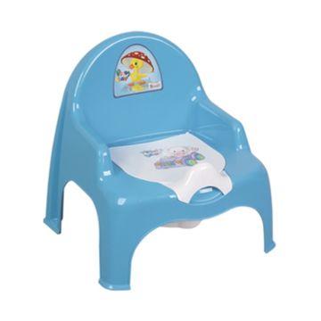 Горшок-кресло Dunya Plastik 11101 (голубой)