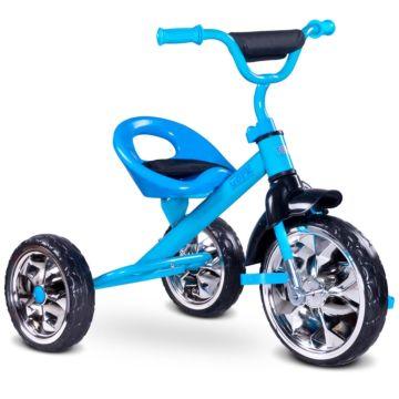 """Трехколесный велосипед Toyz York с ПВХ-колесами 10"""" и 8"""" (голубой)"""