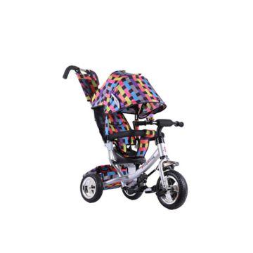 Трехколесный велосипед Farfello TSTX6588 (Радуга на серебристой раме)