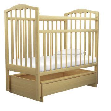 Кроватка детская Агат Золушка-4 (поперечный маятник) с ящиком (Светлый)