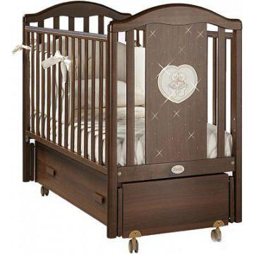 Кроватка детская Feretti Mon Amour Swing (продольный маятник) (орех)