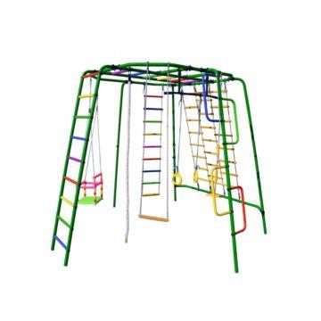 Детский спортивный комплекс Формула Здоровья Спутник-1Z Плюс (зеленый)