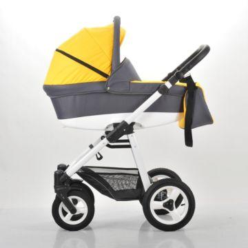 Коляска 2 в 1 Legacy Lotus (желтый+серый)