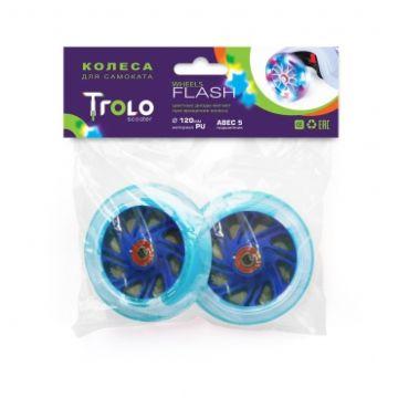 Колеса светящиеся для самоката Trolo 80 мм (синий)