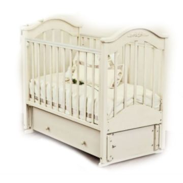 Кроватка детская Можга Ефросинья С 554 Пальметта (продольный маятник) (белый)