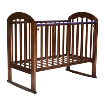 Кроватка детская Кедр Любаша 1 (качалка-колесо) (орех)