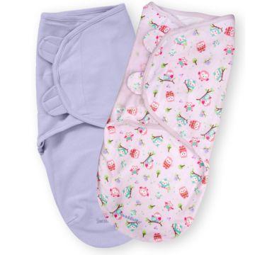 Конверт Summer Infant SwaddleMe L (2 шт.) (розовые птички)