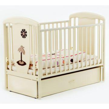 Кроватка детская Papaloni Vitalia (продольный маятник) (Слоновая кость)