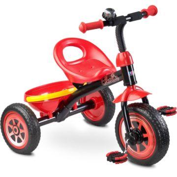 """Трехколесный велосипед Toyz Charlie с ПВХ-колесами 10"""" и 8"""" (красный)"""