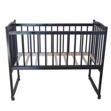 Кроватка детская Массив Беби 1 (качалка-колесо) (венге)