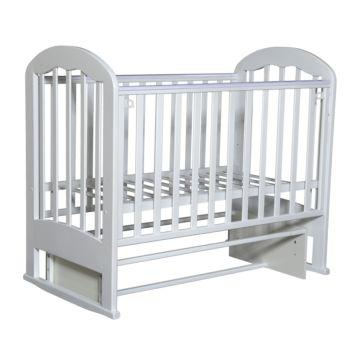 Кроватка детская Кедр Любаша 2-2 (поперечный маятник) (белый)