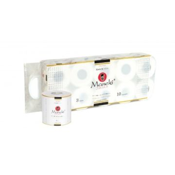 Туалетная бумага Maneki (10 рулонов) (белый)