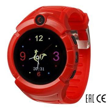 Детские часы с GPS-трекером SmartBabyWatch I8 (красные)