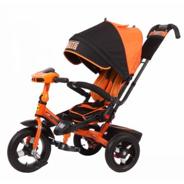 """Трехколесный велосипед Super Formula SFA3 с надувными колесами 12"""" и 10"""" (оранжевый)"""