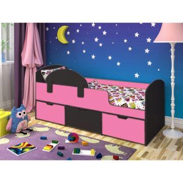 Кровать детская Ярофф Малыш Мини (венге темный/розовый)