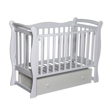 Кроватка детская Кедр Любаша 5 (поперечный маятник) (белый)