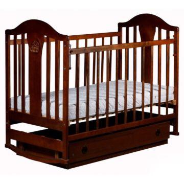 Кроватка детская Наполеон New с поперечным маятником (орех)