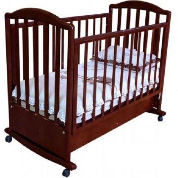 Кроватка детская Можга Яна (качалка-колесо) (вишня)