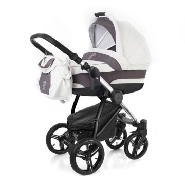 Коляска 2 в 1 Esspero Newborn Lux Chrome Grey
