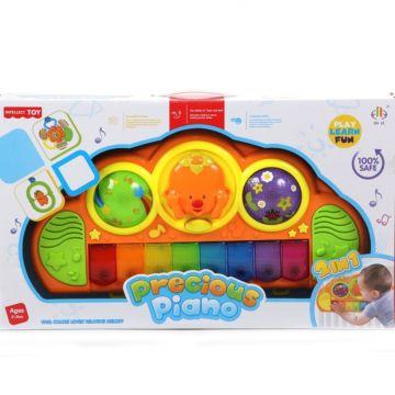 Игровой центр Jia Le Toys Мое первое пианино с креплением на кроватку 2 в 1