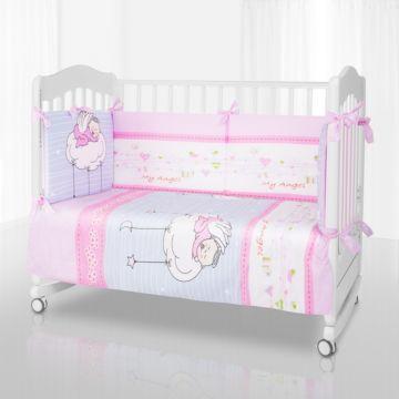Комплект постельного белья Pituso My Angel (6 предметов, хлопок/сатин/бязь) (Розовый)