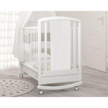 Кроватка детская Angela Bella Жаклин (качалка-колесо) (белый)