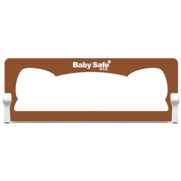 Барьер безопасности для кроватки Baby Safe Ушки 120х42см (Коричневый)
