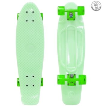 "Мини-круизер Fish Skateboard 22"" со светящимися колесами (светло-зеленый)"