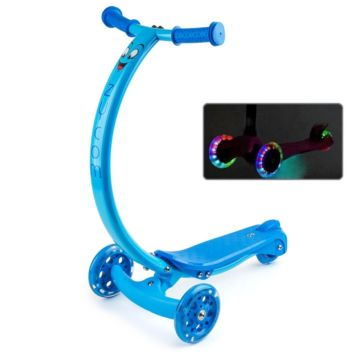 Самокат Zycom Zipster со светящимися колесами (синий)