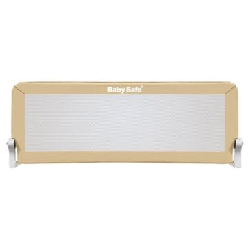 Барьер безопасности для кроватки Baby Safe Прямоугольник 120х42см (Бежевый)