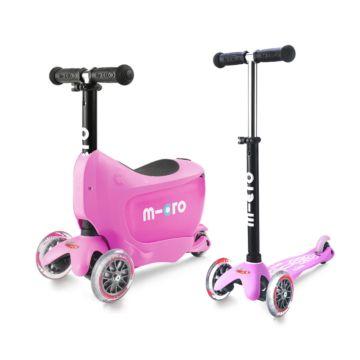 Самокат Micro Mini 2go Deluxe (розовый)