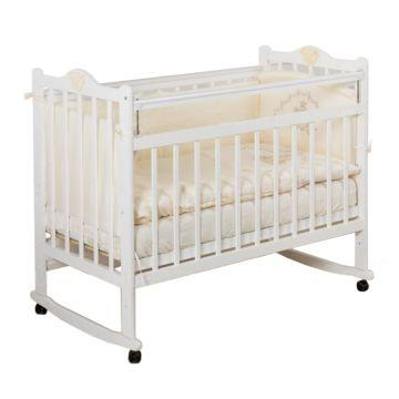 Кроватка детская Incanto Pali (Качалка-колесо) (белый)