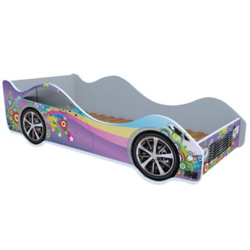 Кровать-машина Кроватка5 Машинки (Фиолетовая радуга)