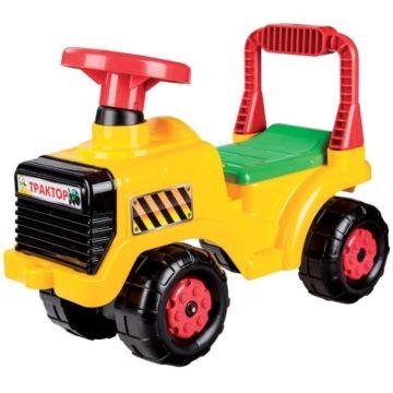 Каталка Plast Land Трактор (желтый)