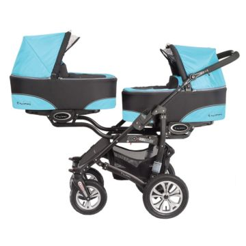 Коляска для двойни 2 в 1 BabyActive Twinni Blue