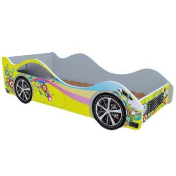 Кровать-машина Кроватка5 Машинки (Желтая радуга)